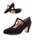 Zapato flamenco ante con tira y hebilla