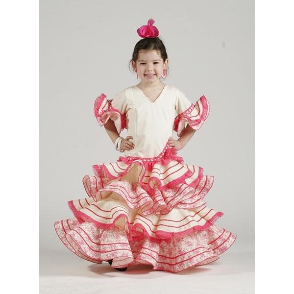 Moda flamenca 2015 en trajes de flamenca niña desde 49 € - El Rocío