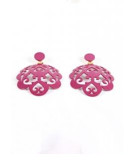 Pendiente flamenca labrado lila