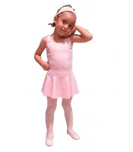 Malla con falda licra niña mod. E-10709 jm