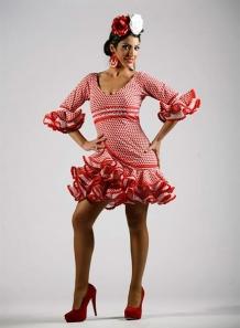 Trajes de Flamenca Cortos Carmín 2015