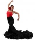 Falda de Cola Flamenca, Cintura Alta