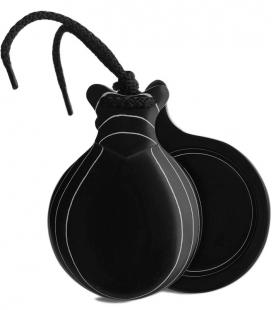 Castañuelas tela negra veteada