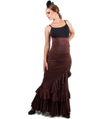 Falda flamenca cintura alta