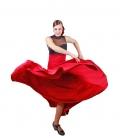 faldas flamencas roja