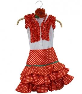 Conjuntos de Flamenca Niña Baratos, Talla 4