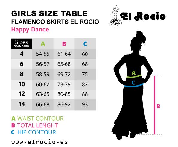 flamenco skirt size happy dance