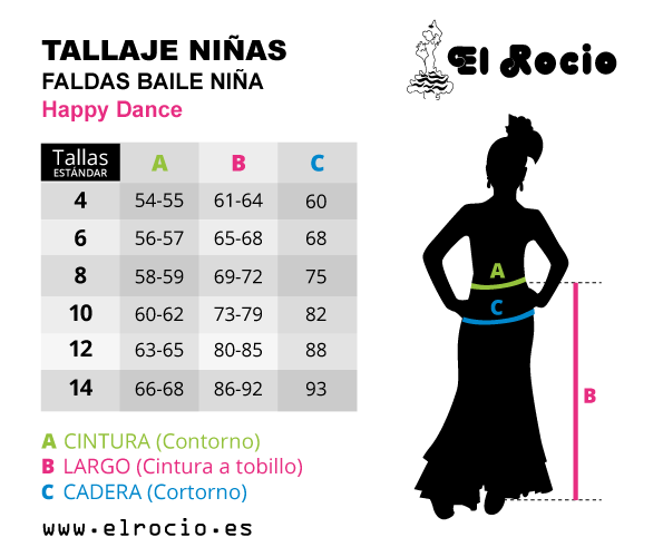 tallas de faldas de happy dance