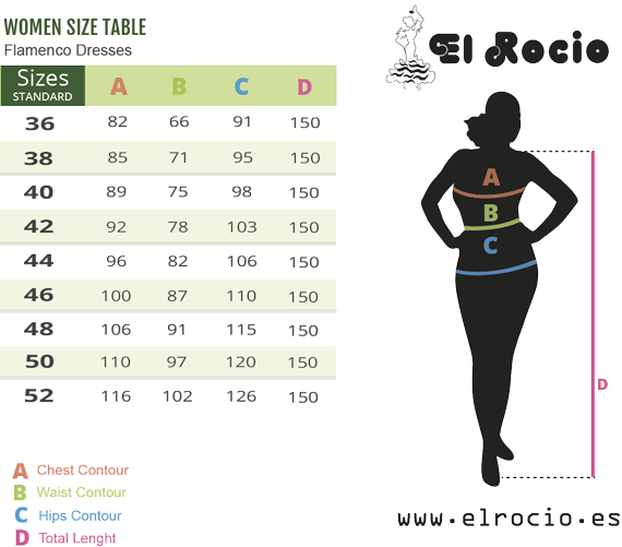 size spanish dress