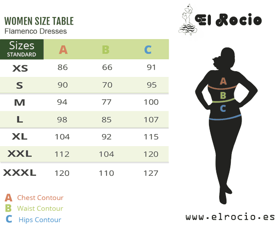 flamenco costume sizes