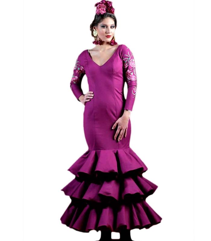 Vestido De Flamenco Silvia Bordado - El Rocio