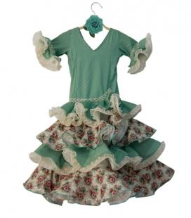 Vestidos de Flamenca para Niñas, Talla 04