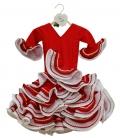Vestidos de Flamenca Para Niñas, Talla 0