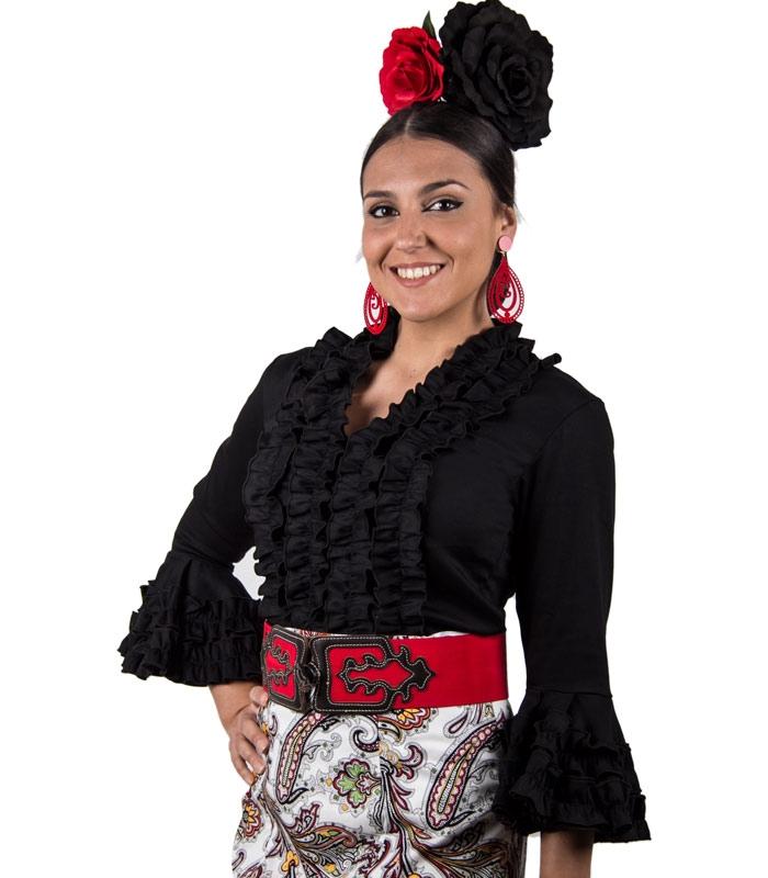 e39a63a7b Blusas flamencas Chorreras con mangas largas - El Rocio