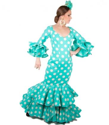 Traje flamenca verde agua 2018