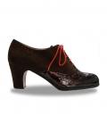 Zapato De Flamenco Abotinado