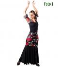 Faldas de Baile Flamenco negra y roja