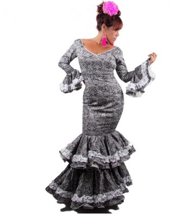 Vestido de Flamenco Talla 42 (L) en color negro - El Rocio 65948157e17