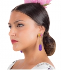 Pendientes de Flamenca Lagrima