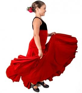 Falda de flamenco 8 godet niña
