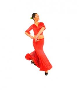 Falda baile flamenco mod. E-3953 niña (punto c/alta)