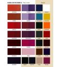 tabla de colores de los zapatos