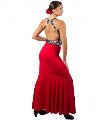 Falda con vuelo para flamenco