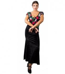 falda de baile de terciopelo