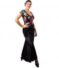 falda de baile flamenco de terciopelo