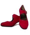 Zapatos flamencos de ante con clavos