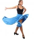 Faldas flamencas 4 godet azul