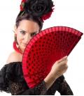 Abanicos flamencos con lunares