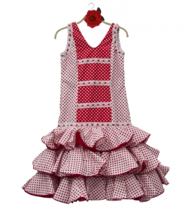 Vestido de flamenca de niña en oferta