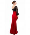 falda de flamenco roja