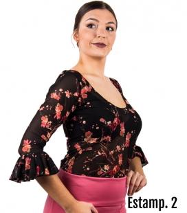 top floral flamenco