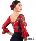 top rojo flamenco