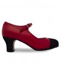 Zapatos Flamencos Profesionales Teja
