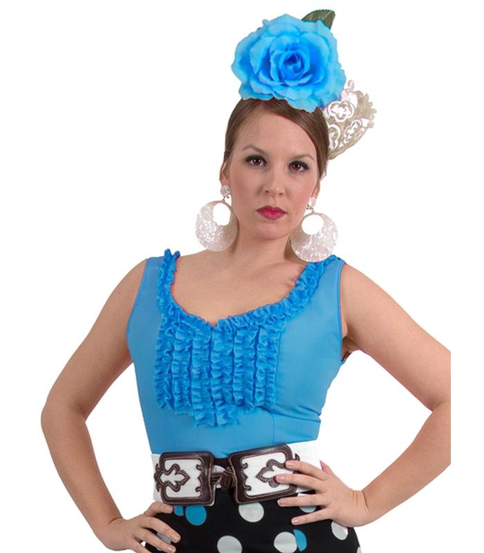 0bd53cd39 Blusas Flamencas Goyesca - Camisa flamenca de rociera con mangas a la sisa