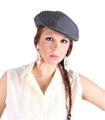 4dca325cb7599 Gorra campera de rayas o gorra flamenca