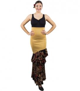 Falda Flamenca de Baile Modelo Clavel
