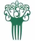 Peineta verde flamenca