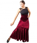 falda de baile en terciopelo