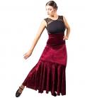 Falda de baile flameco en terciopelo