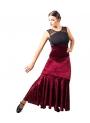 Falda de baile flameco en terciopelo - EN PROMOCIÓN