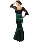 falda de flamenco terciopelo