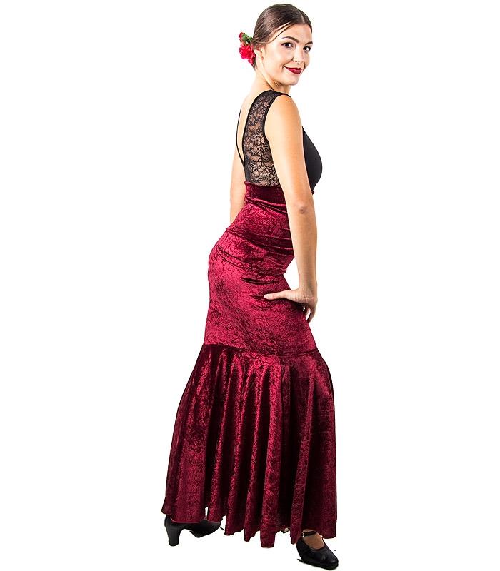 230d8acc6cd falda de baile en terciopelo  falda de flamenco terciopelo  falda en  terciopelo ...