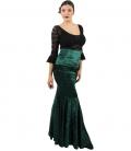 falda en terciopelo de flamenco