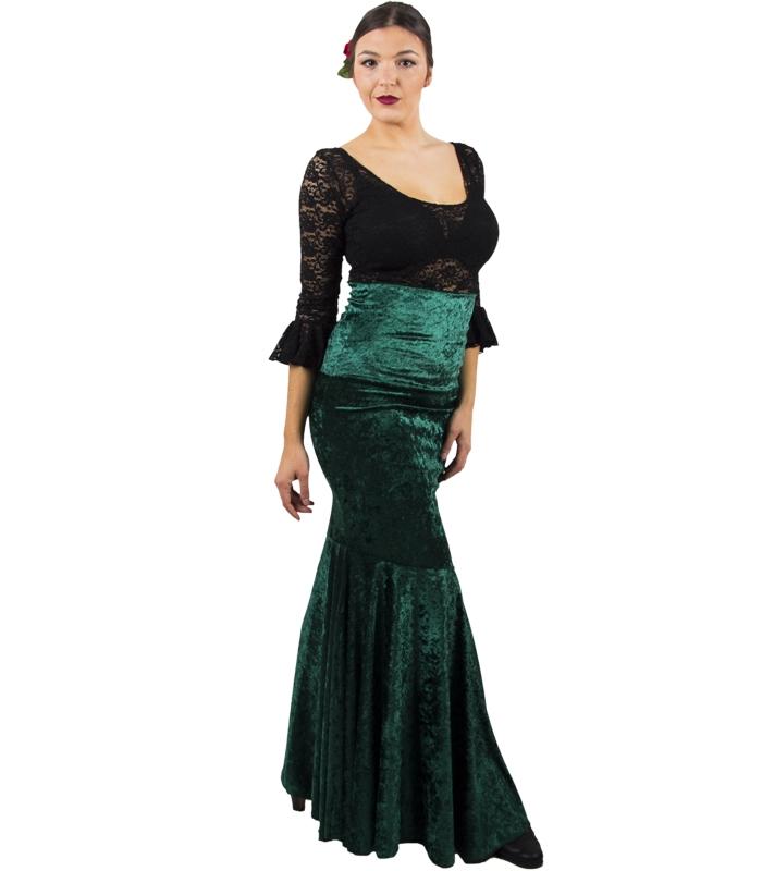 8df7cd10e69 falda de baile en terciopelo  falda de flamenco terciopelo  falda en  terciopelo  falda en terciopelo de flamenco ...