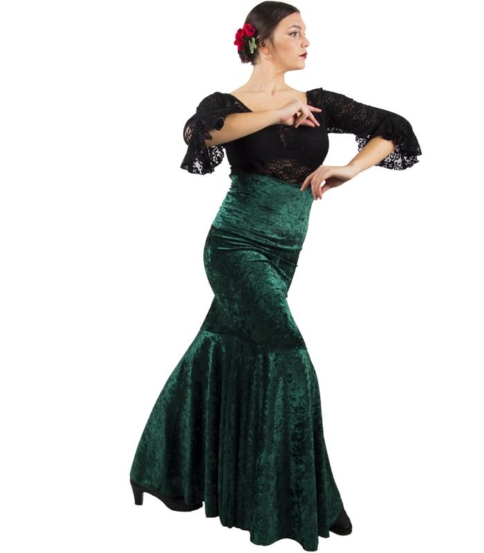 fb1252a8608 Faldas De Baile Flamenco En Terciopelo - Articulos de baile flamenco ...
