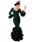 traje en verde de flamenca